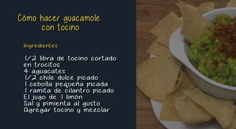 Cocinando con Mayte: Receta de guacamole con tocino