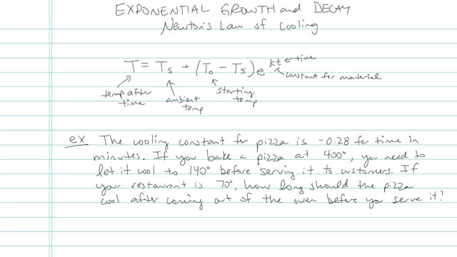 Exponential Growth and Decay - Problem 8