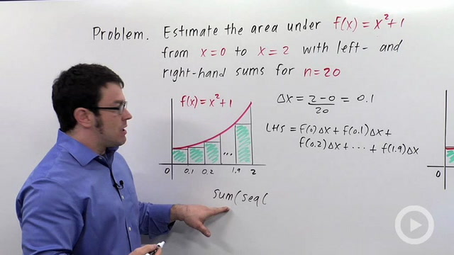Approximating Area Using Rectangles - Problem 3