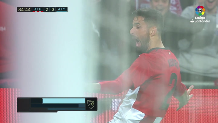 LaLiga: Athletic Bilbao - Atlético Madrid. Gol de Kenan Kodro en el minuto 85 (2-0)