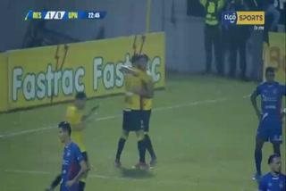 Delis Vargas anota el 1 - 0 de Real España ante UPN