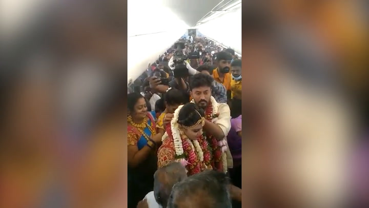 Indian couple charter entire flight for 170-guest mid-air wedding to get around Covid restrictions