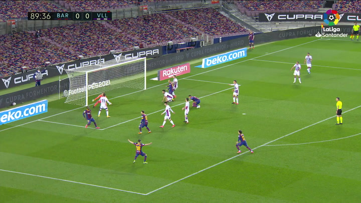 Gol de Dembélé (J29) en el Barcelona 1-0 Valladolid