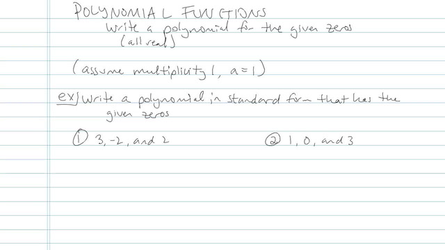 Polynomial Function - Problem 11