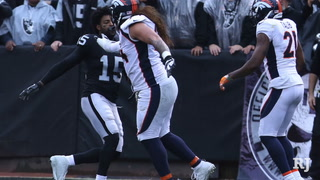 Raiders' coach addresses skirmish, Cooper injury after win over Denver