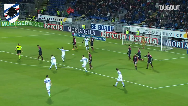 Gastón Ramírez shows great skill to set up Quagliarella vs Cagliari