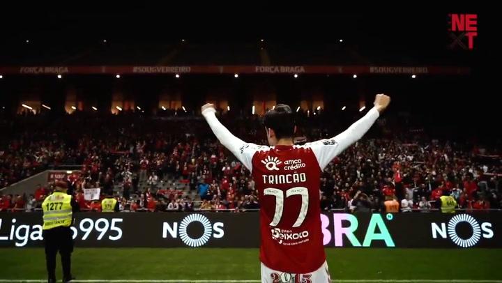 Trincao, ídolo en el Sporting Club Braga
