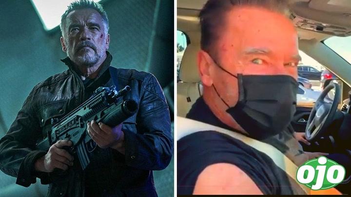 """""""Ven conmigo si quieres vivir"""": Arnold Schwarzenegger recibe vacuna contra Covid-19 al estilo 'Terminator'"""