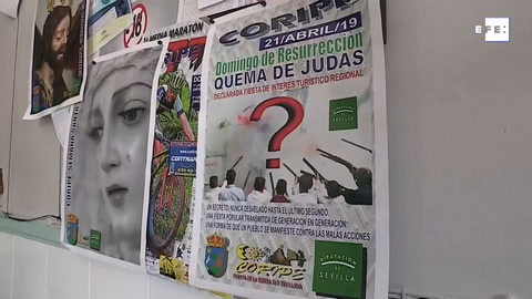 Coripe rechaza la polémica por la quema de una figura de Puigdemont