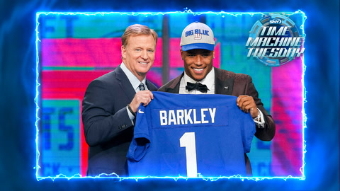 Saquon Barkley gets drafted by the Giants in 2018