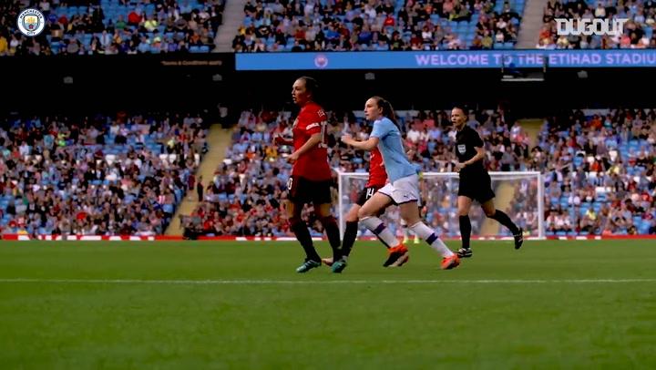 Caroline Weir's stunning strike Vs Manchester United