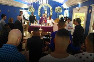 Motagua lleva la Copa 16 a misa para dar gracias a Dios