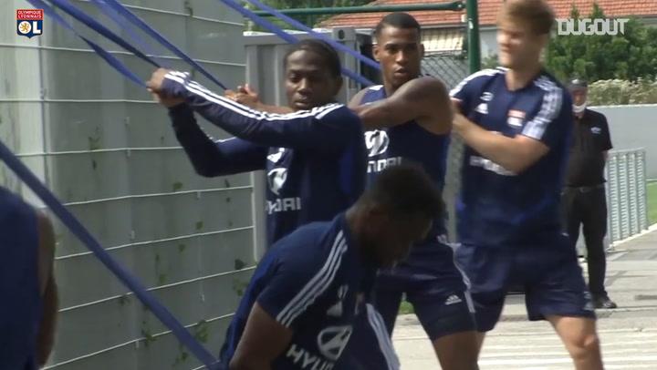 Olympique Lyonnais' latest fitness session