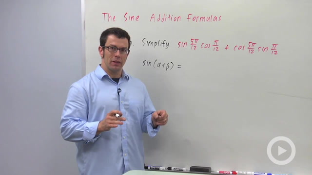 The Sine Addition Formulas - Problem 1