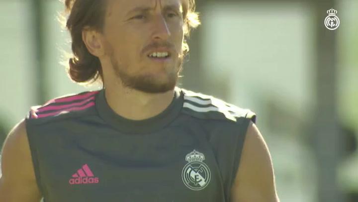 Primer entrenamiento de pretemporada del Real Madrid