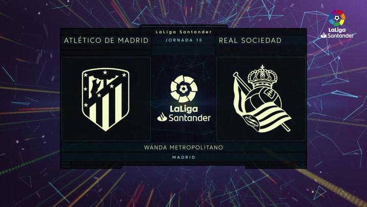LaLiga (J10): Resumen y goles del Atlético 2-2- Real Sociedad