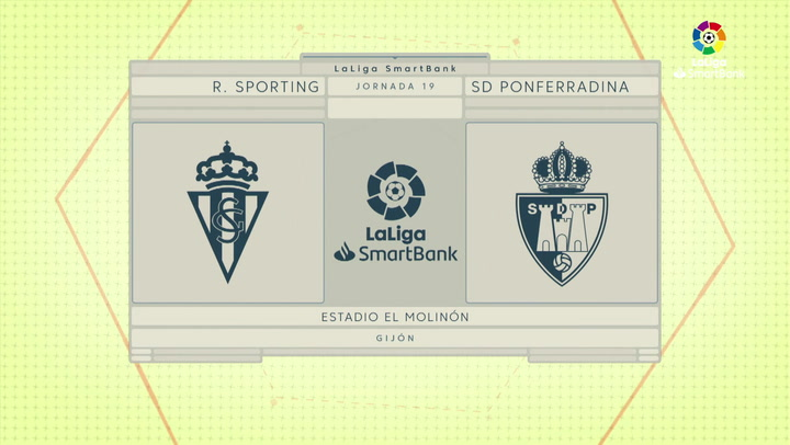 LaLiga SmartBank (J19): Resumen y goles del Sporting 1-0 Ponferradina