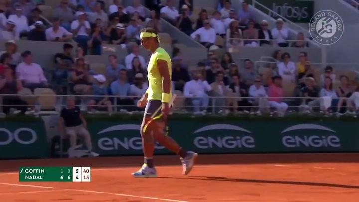 Nadal pierde su primer set en Roland Garros