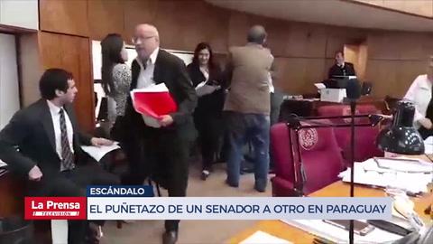 Video muestra el puñetazo de un senador a otro en Paraguay