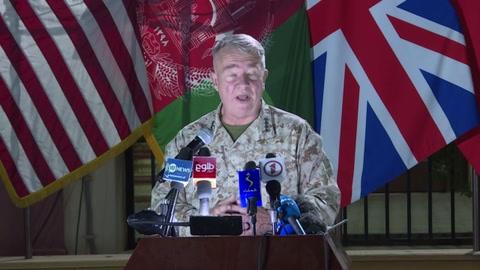 Estados Unidos dice que proseguirá bombardeos en Afganistán si ofensiva talibán persiste