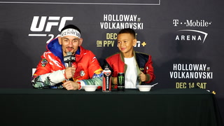 Nunes, Volkanovski discuss their wins, Holloway and his son have a moment at UFC 245