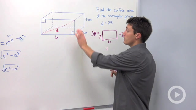 Using the Pythagorean Theorem to find a Missing Leg - Problem 3