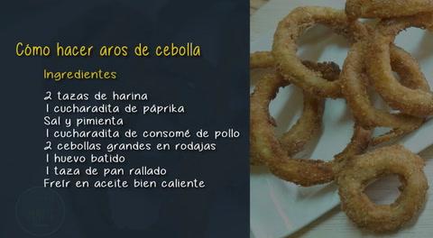 Cocinando con Mayte: Cómo hacer aros de cebolla
