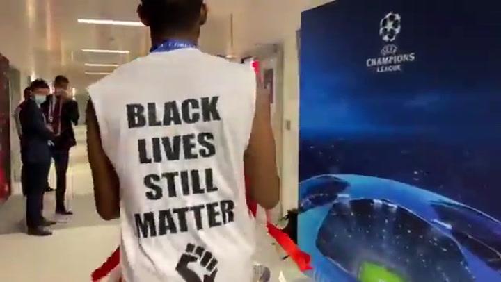 Alegría en el vestuario del Bayern tras ganar la Champions
