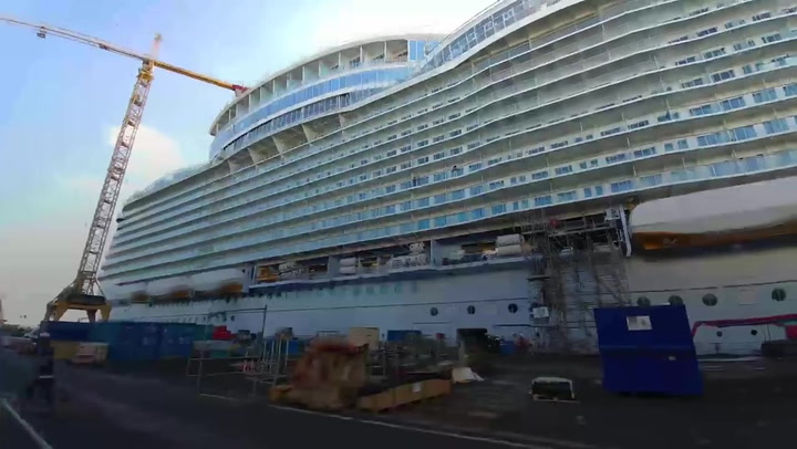 Shipyard Tour: Royal Caribbean's Symphony Of The Seas Gets Its Finishing Touches -- Video