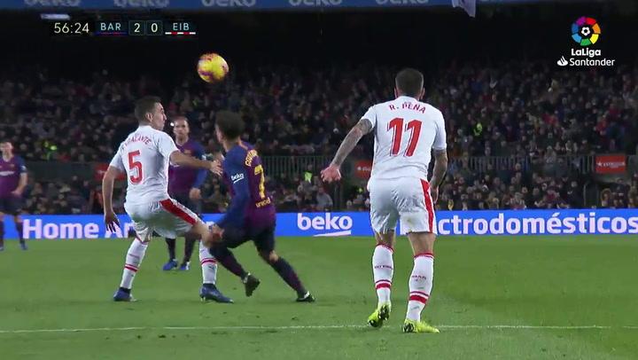 LaLiga: Barça-Eibar. Sombrero de Coutinho