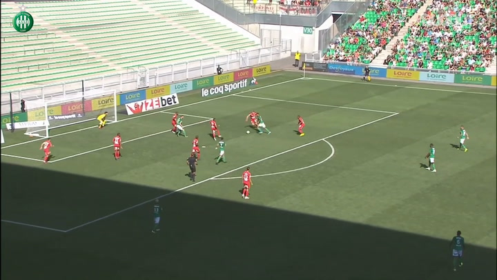Denis Bouanga's first goal at Saint-Etienne