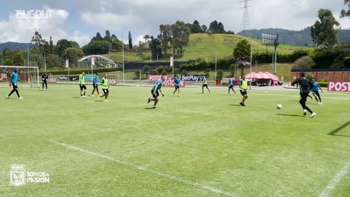 Atlético Nacional's game in training