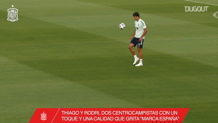 Thiago and Rodri's exhibition in training