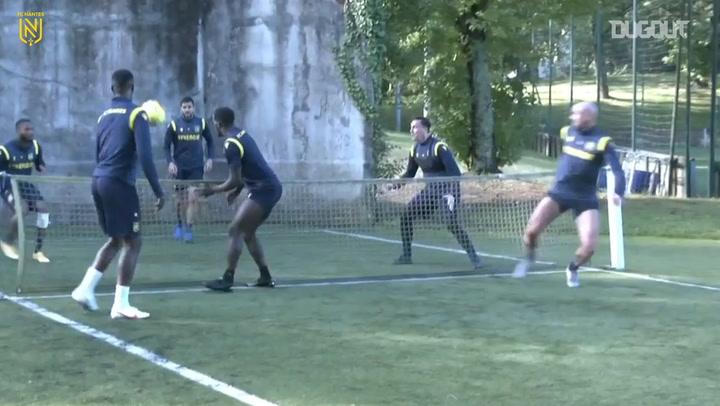 Kader Bamba shows his skill at Nantes training