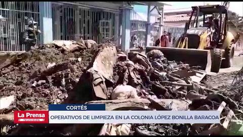 Operativos de limpieza en la Colonia López Bonilla de Baracoa, Cortés