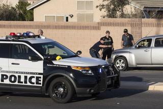 Las Vegas police brief the media on fatal crash