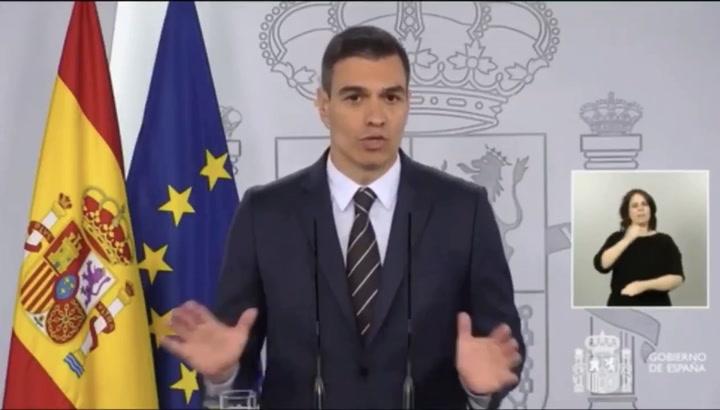 Pedro Sánchez decreta 10 días de luto oficial por el coronavirus
