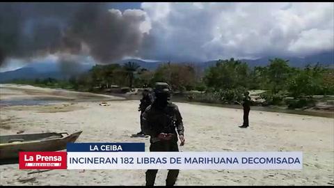 Incineran 182 libras de marihuana decomisada en La Ceiba
