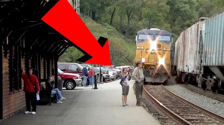 Mannen fulgte ikke med - så kom toget