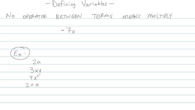 Defining Variables - Problem 4