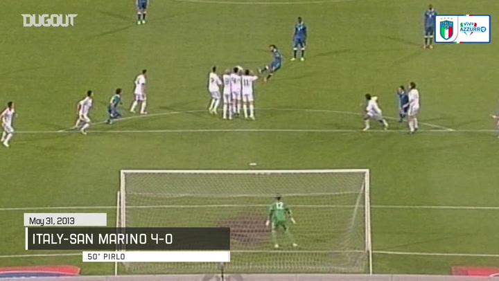 The best free-kicks from the Italian national team