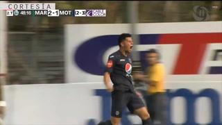 Estigarribia descuenta para Motagua iniciando la segunda mitad