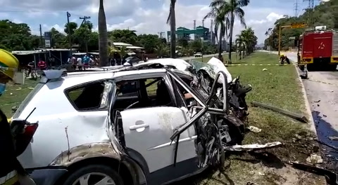 Brutal colisión deja varios muertos en Aldea Bijao, Choloma