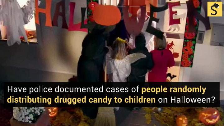 Police Have Never Documented Actual Cases Of People Randomly Distributing  Poisoned Goodies To Children On Halloween.