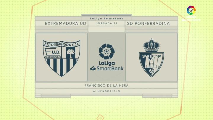 Resumen 90' Extremadura UD - SD Ponferradina J11