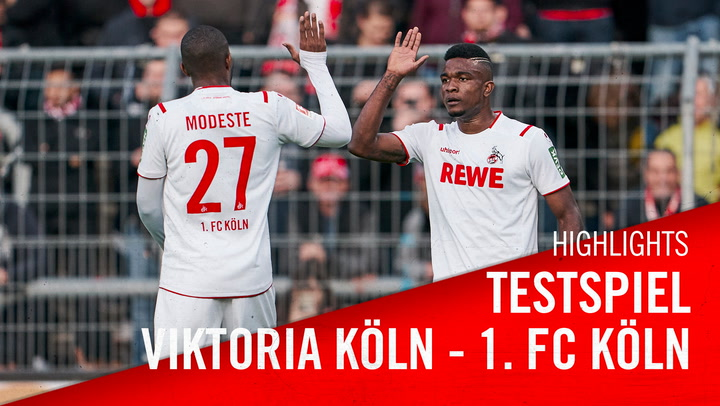 Highlights: Testspiel gegen Viktoria Köln