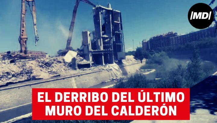 Emocionará a los Atléticos: el derribo de la última grada en pie del Calderón