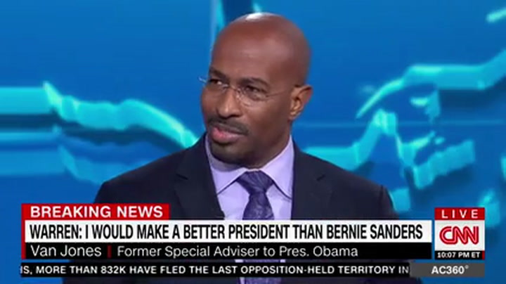 Van Jones: 'Unbelievable' Bernie 'Failed' to Reject Socialism