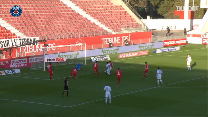 Moise Kean opens the scoring against Dijon