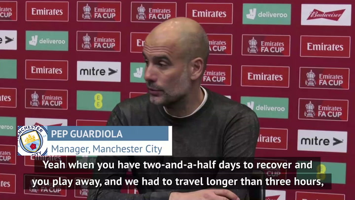 Guardiola blasts poor team selection argument for FA Cup exit